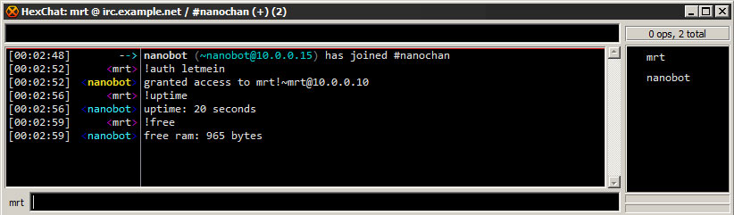ATmega328 IRC Bot